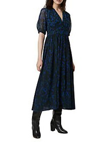 French Connection Inari Printed Dress BLUE ELECTRI