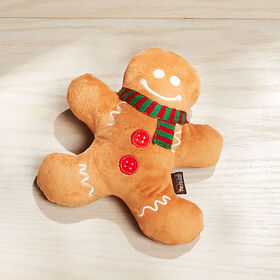 Crate Barrel Gingerbread Man Dog Toy