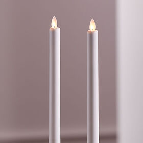 """Crate Barrel 9"""" Flameless Taper Candle, Set of 2"""