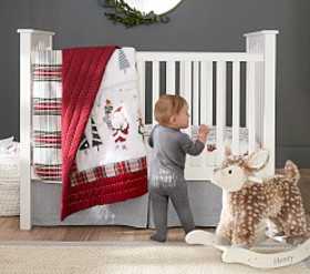 Pottery Barn Merry Santa Baby Bedding