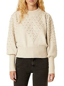 French Connection Cropped Crewneck Bobble Sweater