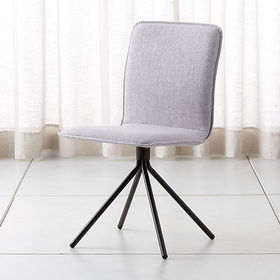 Crate Barrel Whirl Grey Swivel Dining Chair