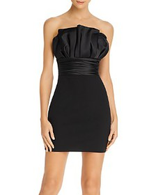 LIKELY - Lally Pleated Strapless Mini Dress