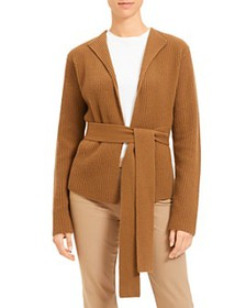 Theory - Ribbed Wool & Cashmere Belted Cardigan