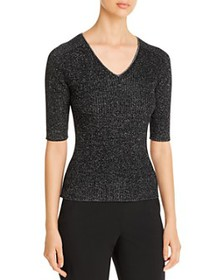 BOSS - Flaire Ribbed Metallic Sweater