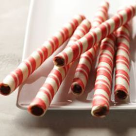 Williams Sonoma Chocolate Peppermint Rolled Wafers