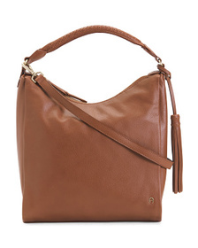 ETIENNE AIGNER Ava Leather Large Hobo With Braided