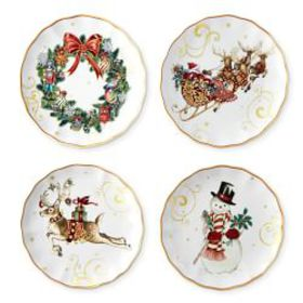 Twas the Night Before Christmas Appetizer Plates,
