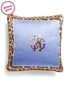 ROBERTO CAVALLI Made In Italy 16x16 Silk Pillow