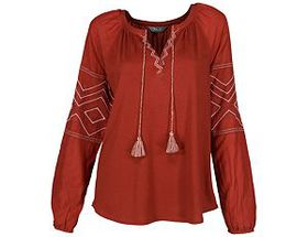 Natural Reflections® Women's Embroidered Long-Slee