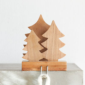 Crate Barrel Wood Trees Stocking Hook