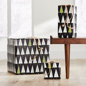 Crate Barrel Mod Trees Gift Wrap