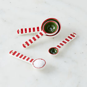 Crate Barrel Holiday Stripe Measuring Spoons