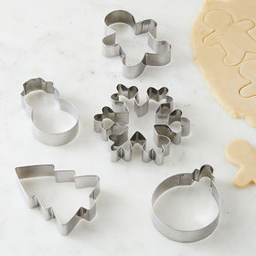 Crate Barrel Holiday Cookie Cutters, Set of 5