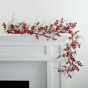 Crate Barrel Red Berry Garland
