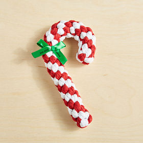 Crate Barrel Candy Cane Rope Dog Toy