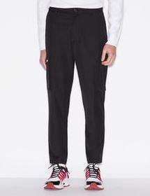 Armani VISCOSE AND WOOL BLEND TROUSERS