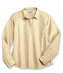 LL Bean Long-Sleeve Wrinkle Resistant All Cotton S