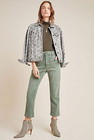 Anthropologie AMO Ultra High-Rise Straight Cropped