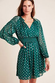 Anthropologie Hazell Embroidered Tunic