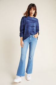 Anthropologie Paige Mid-Rise Bootcut Petite Jeans