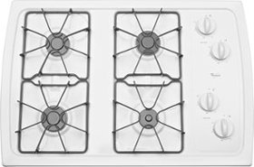 """Whirlpool - 30"""" Built-In Gas Cooktop - White"""