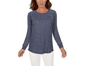 Natural Reflections® Women's Burnout Waffle Crew L