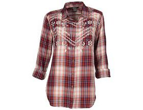 Natural Reflections® Women's Embroidered Plaid Lon