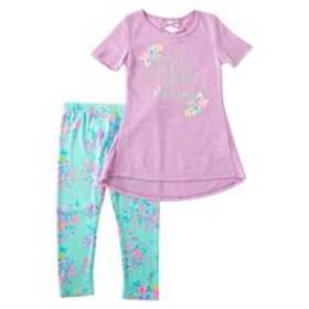 Girls (4-6x) One Step Up 2pc. Tunic Top & Print Le
