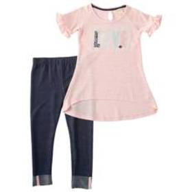 Girls (4-6x) One Step Up 2pc. Tunic Top & Solid Le