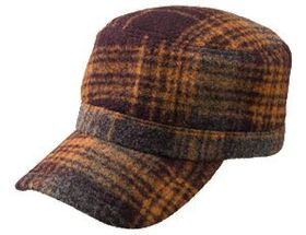 Quagga® Women's Berry Batch Plaid Cadet Cap