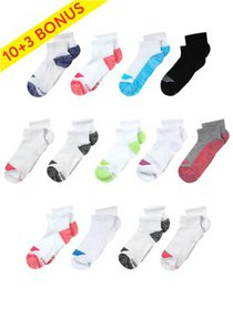 Hanes Girls Socks, 10 + 3 Bonus Pack Ankle Cool Co