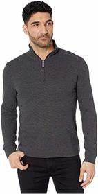 Perry Ellis Ottoman Rib Knit 1/4 Zip Long Sleeve S