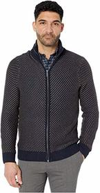 Perry Ellis Chevron Stitch Full Zip Long Sleeve Sw