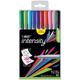 BIC Intensity Fineliner Marker Pen, Medium Point (