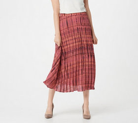 Lisa Rinna Collection Printed Midi Skirt - A365770