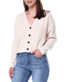 Fashion Lab v-neck ribbed button down cardigan