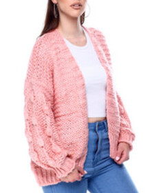 Fashion Lab cable knit open cardigan