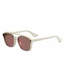 Dior Square Abstract Sunglasses, Milk