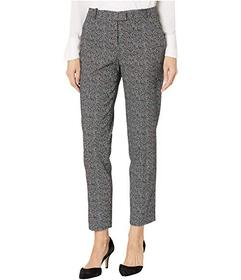 Tahari by ASL Two-Tone Side Seam Ankle Pants