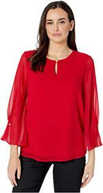 Calvin Klein Long Sleeve Top with Keyhole