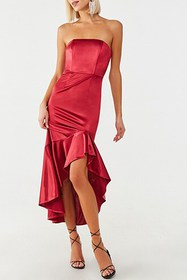 Forever21 Satin Flounce Gown