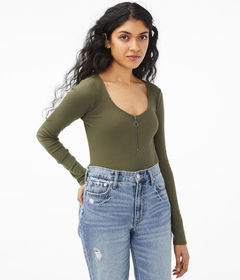 Aeropostale Long Sleeve Seriously Soft Zip-Front B