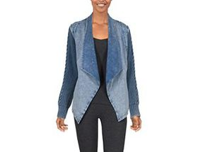 Natural Reflections® Women's Open-Front Acid-Washe