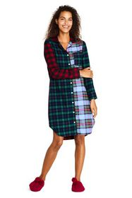 Lands End Women's Long Sleeve Print Flannel Nights