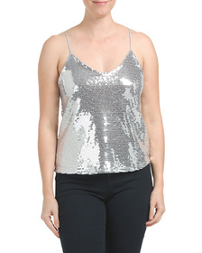 CHRYSANTHEMUM Made In USA Sequin Holiday Tank
