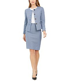 Chevron Tweed Skirt Suit