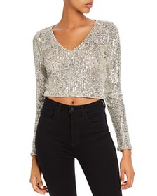 GUESS - Riza Sequined Cropped Top