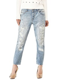 Tapered Embellished Jeans