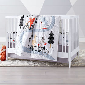 Crate Barrel Forest Friends Baby Quilt